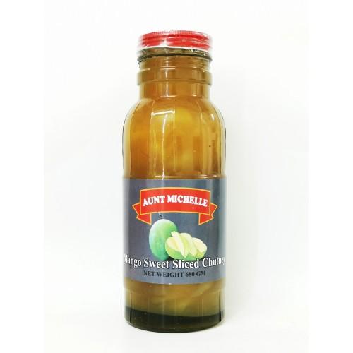 4-MANGO CHUTNEY SWEET SLICED FRUIT AUNT MICHELLE  (芒果酸甜辣酱)