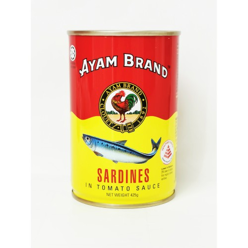 6-SARDINES IN TOMATO SAUCE (TALL) AYAM CSF / JENAMA AYAM IKAN SARDIN (鸡标茄汁沙丁鱼)