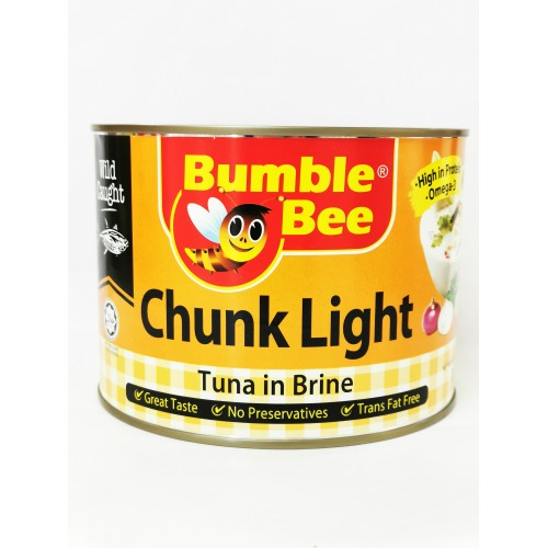6-TUNA CHUNK LIGHT IN BRINE BUMBLE BEE (清水金枪鱼肉)